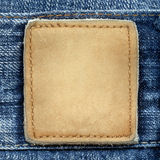 Escritura de la etiqueta de los pantalones vaqueros fotos de archivo libres de regalías