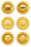 Escritura de la etiqueta de oro