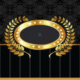 Escritura de la etiqueta de oro de la vendimia Imagen de archivo libre de regalías