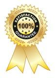 Escritura de la etiqueta de Satisfaction_guarantee Imagenes de archivo