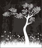 Escritura de la etiqueta del árbol Fotografía de archivo libre de regalías