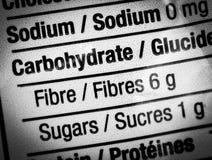Escritura de la etiqueta del alimento