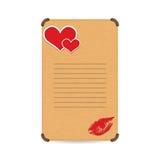 Escritura de la etiqueta del amor imagen de archivo