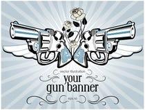 Escritura de la etiqueta del arma de la vendimia Imagen de archivo libre de regalías