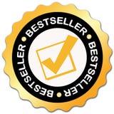 Escritura de la etiqueta del bestseller stock de ilustración