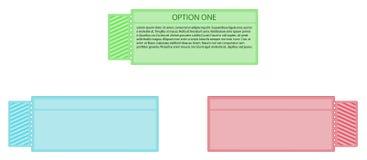 Escritura de la etiqueta del boleto - tres colores Imagen de archivo