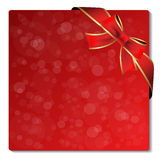 Escritura de la etiqueta del brillo de la Navidad con la cinta Imagen de archivo libre de regalías