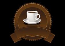 Escritura de la etiqueta del café Fotos de archivo
