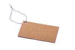 Escritura de la etiqueta del cartón Foto de archivo libre de regalías