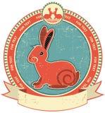 Escritura de la etiqueta del conejo Imágenes de archivo libres de regalías