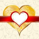 Escritura de la etiqueta del corazón Imagenes de archivo