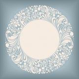 Escritura de la etiqueta del círculo del ornamento Foto de archivo