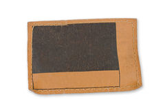 Etiqueta del cuero de Brown Imágenes de archivo libres de regalías