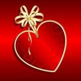 Escritura de la etiqueta del día de tarjetas del día de San Valentín libre illustration