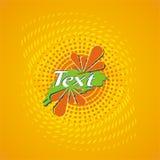 Escritura de la etiqueta del diseño del zumo de naranja Fotografía de archivo