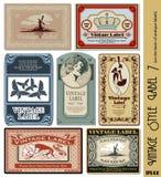 Escritura de la etiqueta del estilo de la vendimia Fotografía de archivo libre de regalías