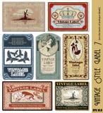 Escritura de la etiqueta del estilo de la vendimia Imágenes de archivo libres de regalías