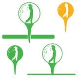 Escritura de la etiqueta del golf Imagen de archivo libre de regalías