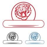 Escritura de la etiqueta del tigre Fotos de archivo libres de regalías