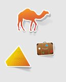 Escritura de la etiqueta del vector para el diseño Imágenes de archivo libres de regalías