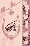 Escritura de la etiqueta del vino Foto de archivo libre de regalías