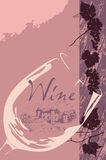 Escritura de la etiqueta del vino Foto de archivo