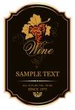 Escritura de la etiqueta del vino Fotos de archivo