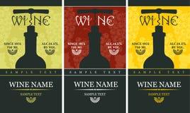 Escritura de la etiqueta del vino stock de ilustración