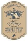 Escritura de la etiqueta del vino Imágenes de archivo libres de regalías