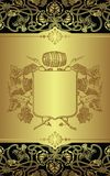 Escritura de la etiqueta del vino Fotografía de archivo