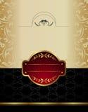 Escritura de la etiqueta del vino del oro Fotos de archivo libres de regalías