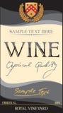 Escritura de la etiqueta del vino del vector Fotografía de archivo libre de regalías