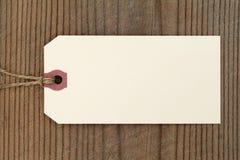 Escritura de la etiqueta en blanco Fotografía de archivo libre de regalías