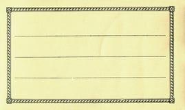 Escritura de la etiqueta en blanco Fotos de archivo libres de regalías