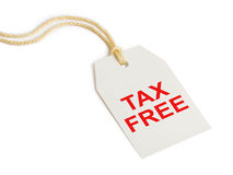 Escritura de la etiqueta exenta de impuestos imágenes de archivo libres de regalías