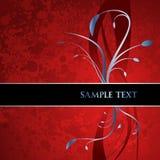 Escritura de la etiqueta floral decorativa Imágenes de archivo libres de regalías