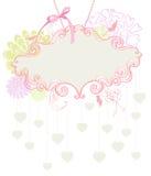 Escritura de la etiqueta floral para el día de fiesta de la tarjeta del día de San Valentín Fotografía de archivo libre de regalías