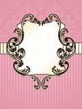 Escritura de la etiqueta francesa rectangular elegante de la vendimia Imagenes de archivo
