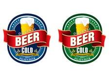 Escritura de la etiqueta genérica de la cerveza Fotografía de archivo