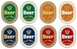 Escritura de la etiqueta genérica de la cerveza Fotos de archivo libres de regalías
