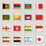 Escritura de la etiqueta - indicadores asiáticos ilustración del vector
