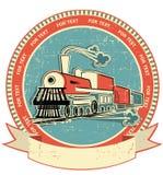 Escritura de la etiqueta locomotora. Estilo de la vendimia en vieja textura Foto de archivo libre de regalías