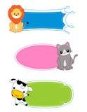 Escritura de la etiqueta/marco animales Imagenes de archivo