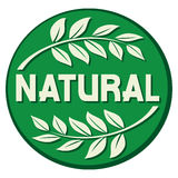 Escritura de la etiqueta natural Imagen de archivo libre de regalías