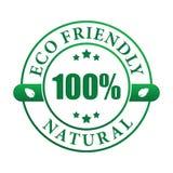 Escritura de la etiqueta natural cómoda de Eco Imagen de archivo