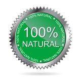 escritura de la etiqueta natural del 100%   Fotografía de archivo libre de regalías