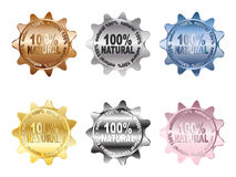 Escritura de la etiqueta NATURAL del 100% Fotos de archivo libres de regalías