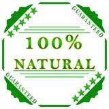 escritura de la etiqueta natural del 100% Imagen de archivo libre de regalías