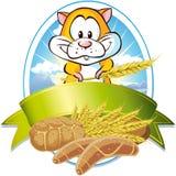 Escritura de la etiqueta natural del cereal Imágenes de archivo libres de regalías