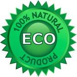 Escritura de la etiqueta natural del producto de Eco Foto de archivo libre de regalías